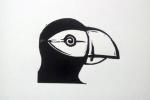 Puffin II. A5 linotype decor